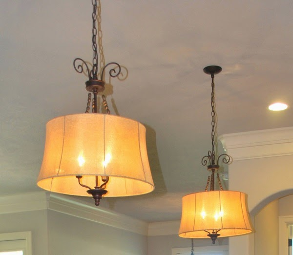 Kitchen island lights with character