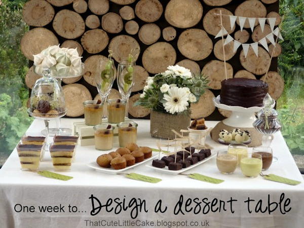 Natural Dessert Table DIY