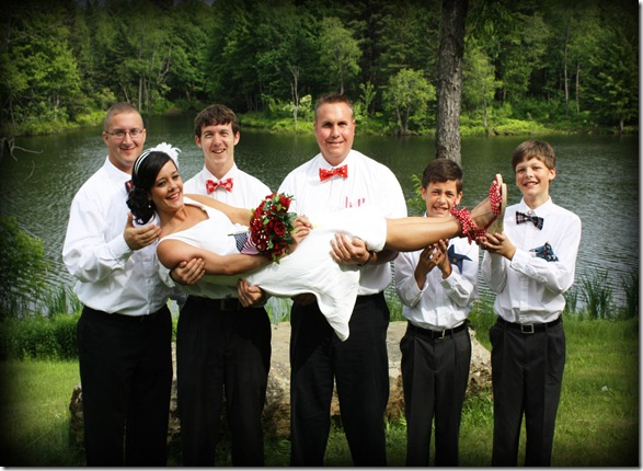 boys with bride funny