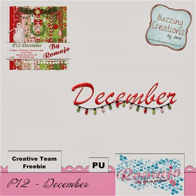 Romajo - P12December - Cluster Freebie Preview