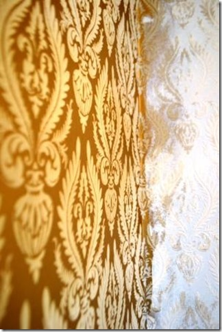 painting flocked wallpaper