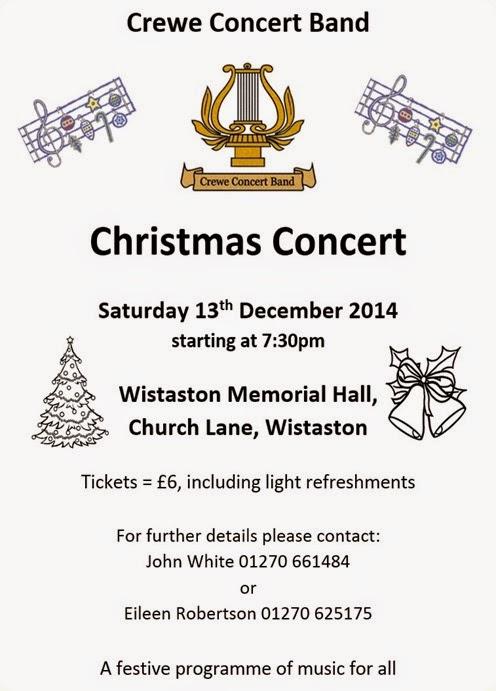 Christmas Concert in Wistaston - Sat 13 Dec