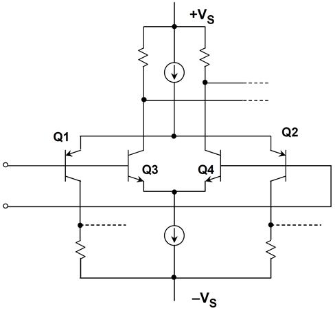 A true rail-to-rail bipolar transistor input stage