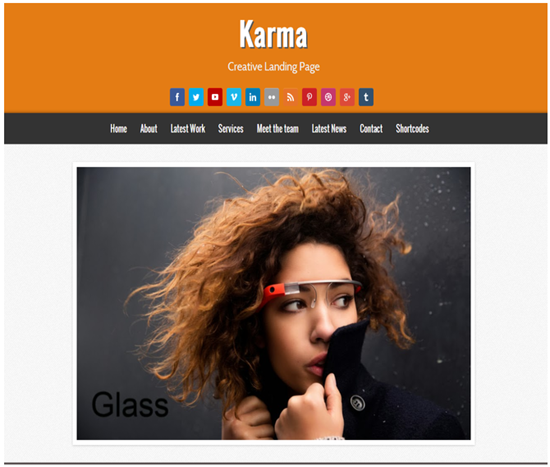 blogger template karma