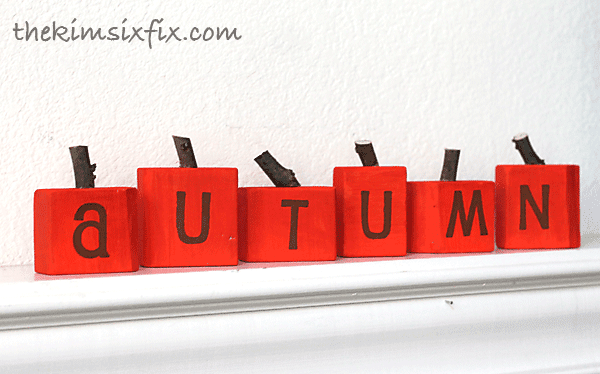 Pumpkin wooden blocks