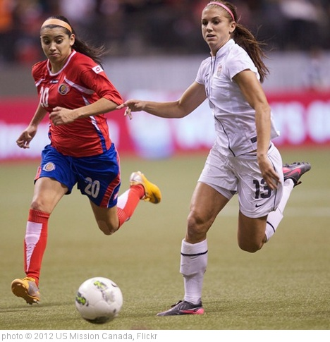 'Wendy Acosta; Alex Morgan' photo (c) 2012, US Mission Canada - license: http://creativecommons.org/licenses/by/2.0/