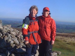 Jackei and friend Rachel on Hamel Down