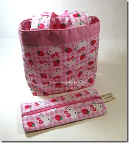 gabby hello kitty bag &amp; pencil pouch