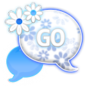 GO SMS - Simple Blue Flower icon