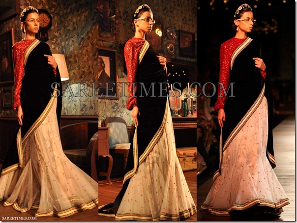 Sabyasachi_White_Black_Saree