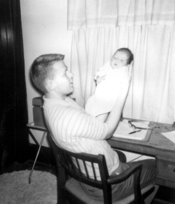 Clayn & baby Julie, Feb. 1962