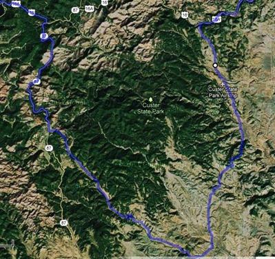 Map Custer SP Wildlife Loop