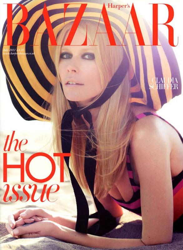 claudiacover Harper's Bazaar UK July