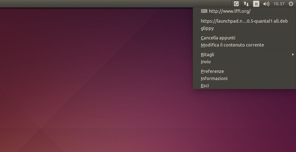 Glippy in Ubuntu Linux
