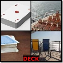 DECK- 4 Pics 1 Word Answers 3 Letters