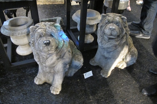 Martha was completely delighted to come upon this pair of stone chow chows.