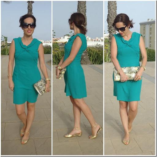 Que color de zapatos para vestido verde esmeralda