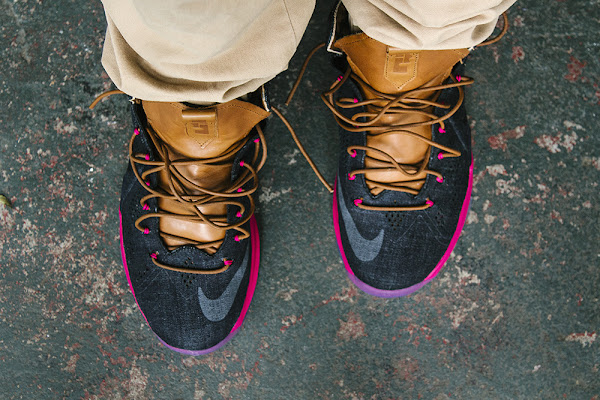 Another On Foot Look at Nike LeBron X EXT Denim QS