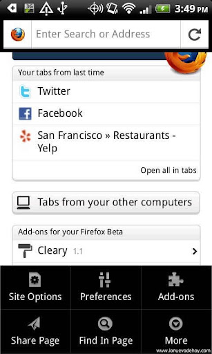Firefox 7 para Android