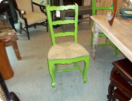 Bright green chair