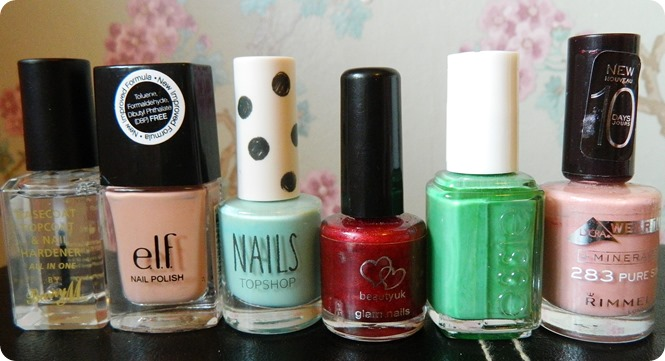 ELF, BARRY M, TOPSHOP, ESSIE, RIMMEL