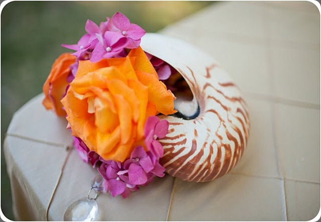 KEMery Conch Shell with flowers heavenly blooms