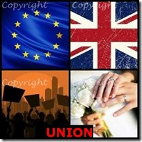 UNION- 4 Pics 1 Word Answers 3 Letters