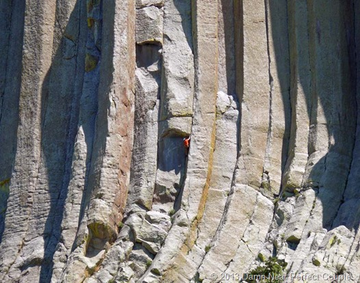 Climber Seen  from Visitor Center