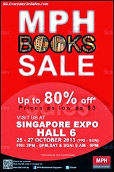 MPH Bookstores Books Expo Sale Event 2013 Singapore Deals Offer Shopping EverydayOnSales