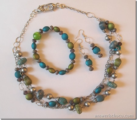 Blue Moon Beads Silver Kiwi Teal