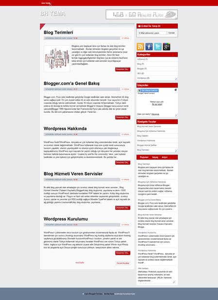 Curo Blogger Teması