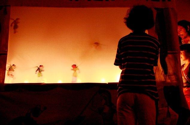 Παράσταση Καραγκιόζη στην Κοργιαλένειο (11.8.2015)