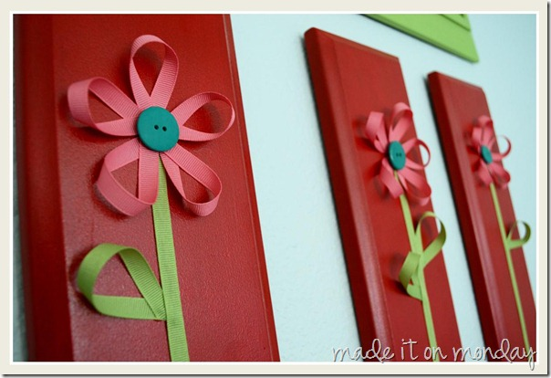 Ribbon Flowers Art 1