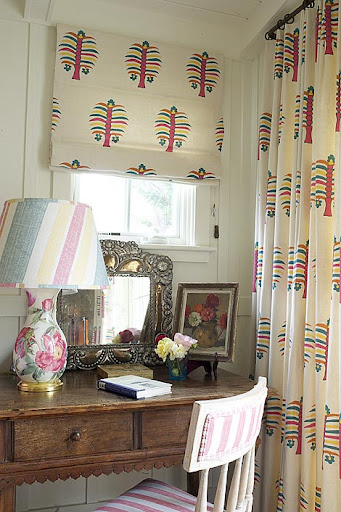 Designer Kathryn Ireland used Mexico and Morocco as inspiration for this playful textile. (kathrynireland.com)