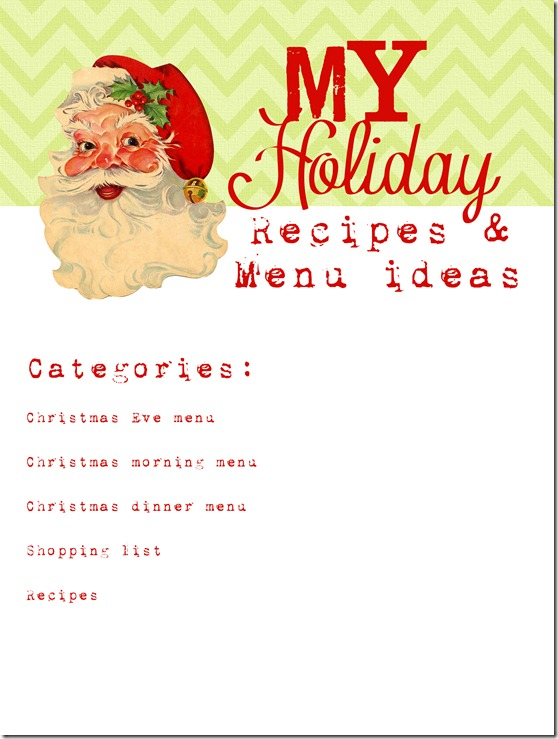 Holiday Recipes and Menu copy