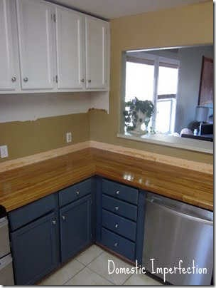 friday feature--butcherblock countertops from domestic imperfection