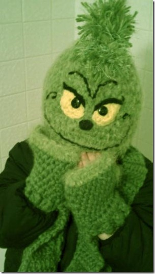 Grinch crochet hat etsy