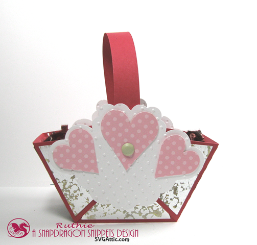 Hearts mini handle favor basket - SnapDragon Snippets - Ruthie Lopez. 2