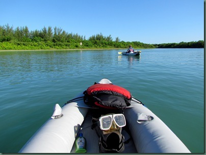 kayaking from  Fort Pierce Inlet SP