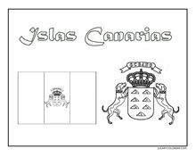 CANARIAS ESCUDO Y BANDERA JUGARYCOLOREAR2pg 1