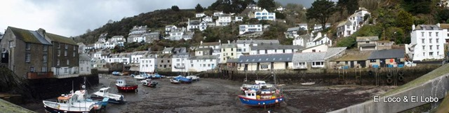 Polperro harbour - tide out