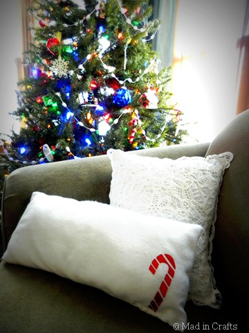 candy cane pillow