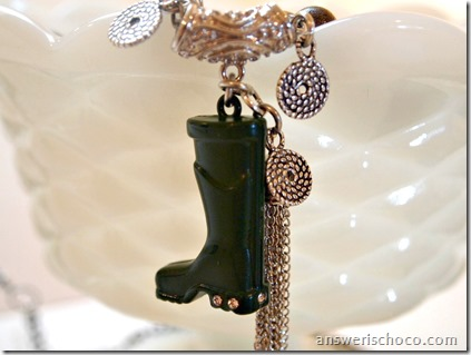 Garden Boot Charm Necklace