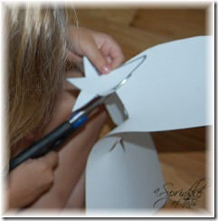 Cutting paper star templates {A Sprinkle of This . . . . A Dash of Tha}