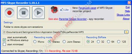 Merekam Pembicaraan di Skype dengan MP3 Skype Recorder