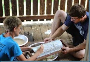 Brennen & Benjamin scraping cassava