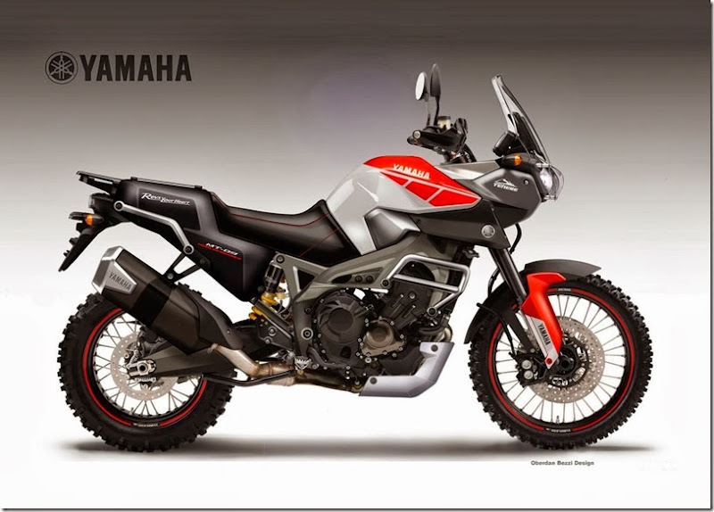 YAMAHA MT-09 TRIPLE WORLDCROSSER CONCEPT by obiboi