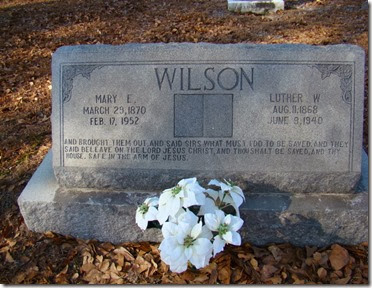 Luther W & Mary E Wilson