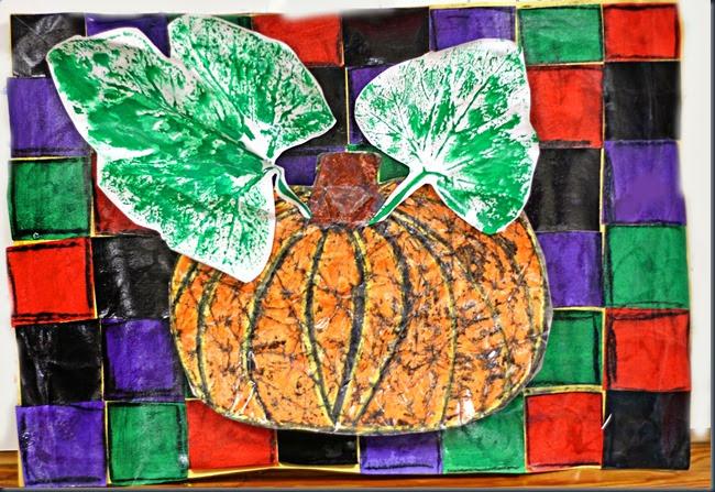 smART Class: Pumpkin Batik and Leaf prints