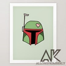 Boba Fett Valentine Art Print by August Decorous via allonsykimberly.com